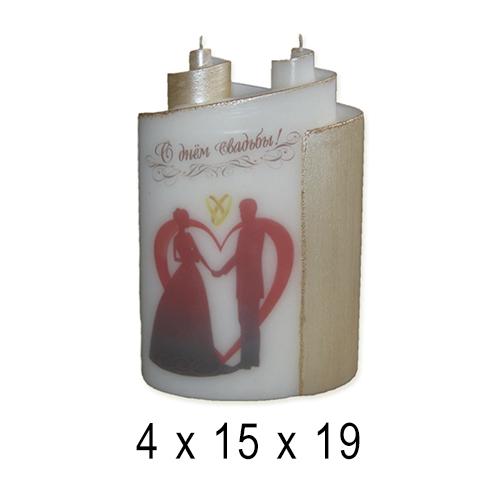 Свадебные свечи  Свадебный дуэт 4*15*19 см