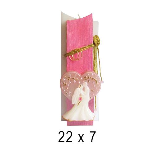 Свадебные свечи Обручальные кольца 22*7 см