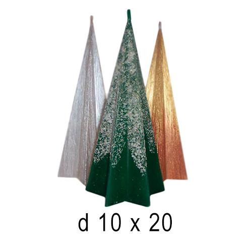 Новогодние свечи Звездочка 10*20 см