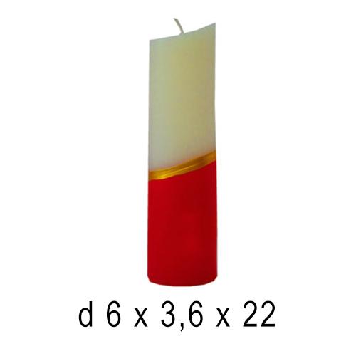 Новогодние свечи Овал 6,3*6,22