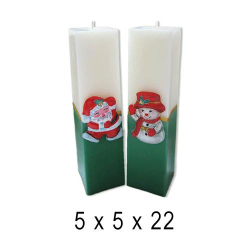 Новогодние свечи Квадрат 5*5*22 см