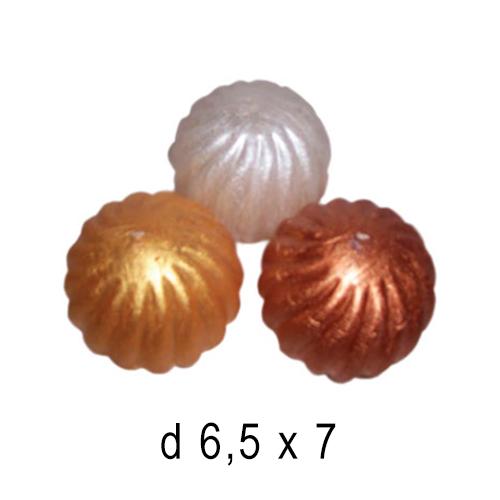 Новогодние свечи Шар волнистый 6,5*7 см