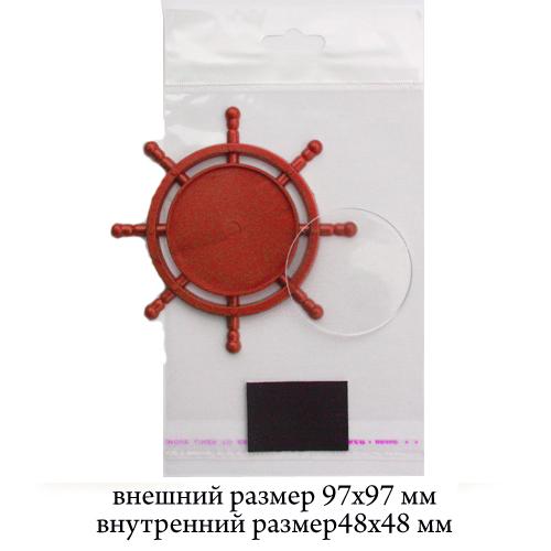 Акрил Штурвал Красный (пакет+магнит)