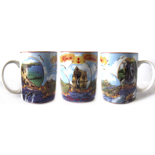 Чаш керам Крым цв 350мл - овалы - Судак-Новый Свет