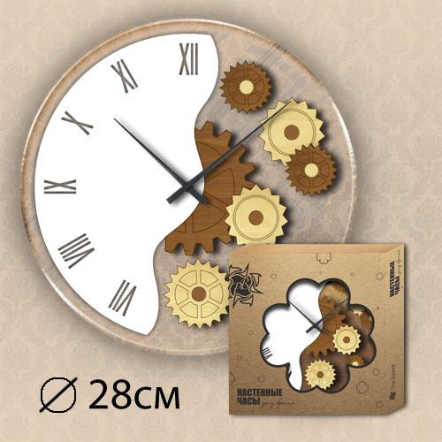 Часы Пластиковые с Деревянными элементами