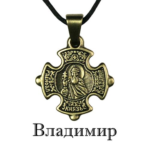 Именной нательный крестик Владимир
