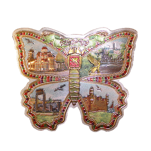 Магн фол Крым - бабочка - Керчь коллаж (2 вида)