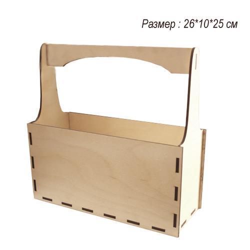 Деревянный резной Короб  для упаковки 26*10*25 см