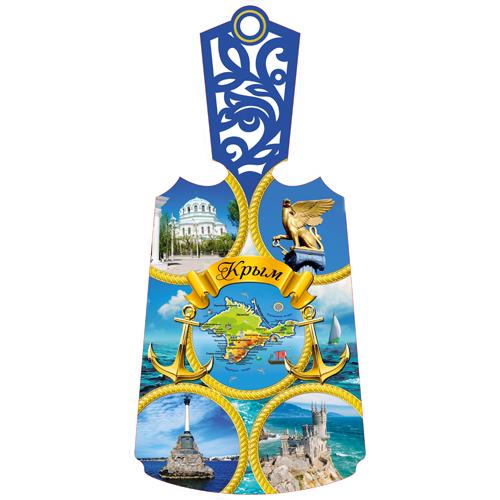 Доска Разделочная Резная Цветная Крым Цветной Коллаж