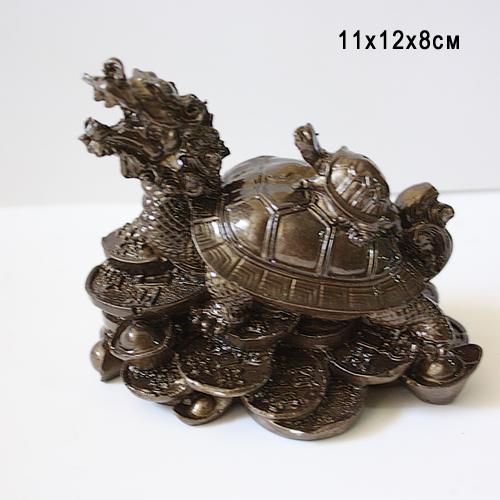 Статуэтка керамическая Дракон с Черепахой 11*12*8 см