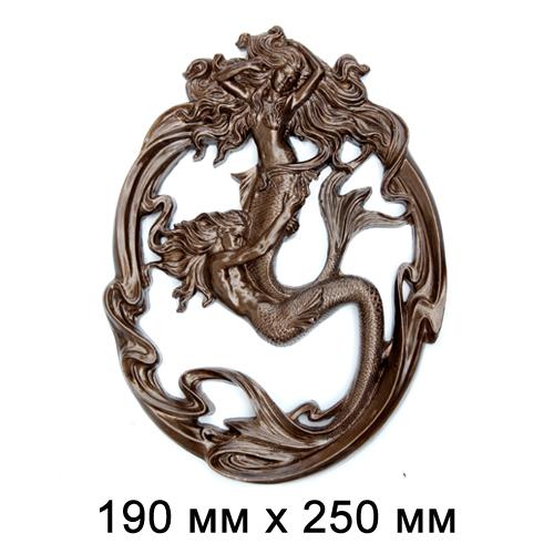 Статуэтка керамическая панно с двцмя русалками 19*25см