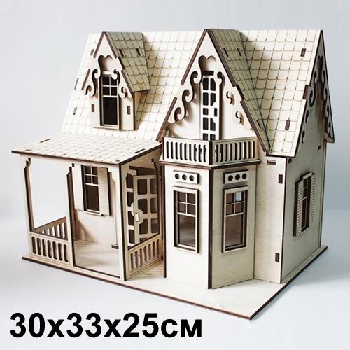 Кукольный дом с Верандой 30*33*25 см