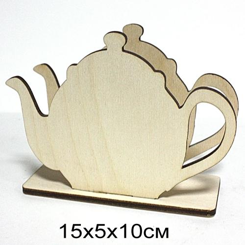 """Салфетница деревянная резная """"Чайник"""" 15*5*10см"""