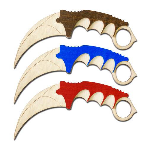 Керамбит нож деревянный резной в ассортименте