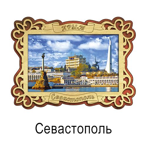 Деревянный магнит цветной Севастополь