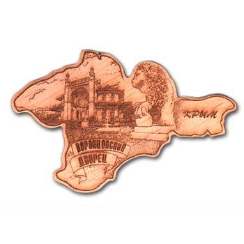Деревянный магнит  контур Воронцовский дворец