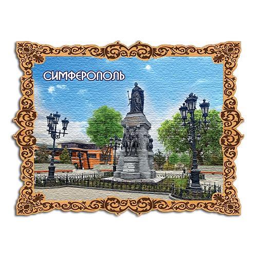 Деревянный магнит холст Симферополь памятник Екатерине