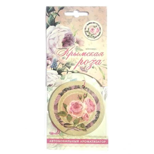 Ароматизатор автомобильный круглый Крымская роза